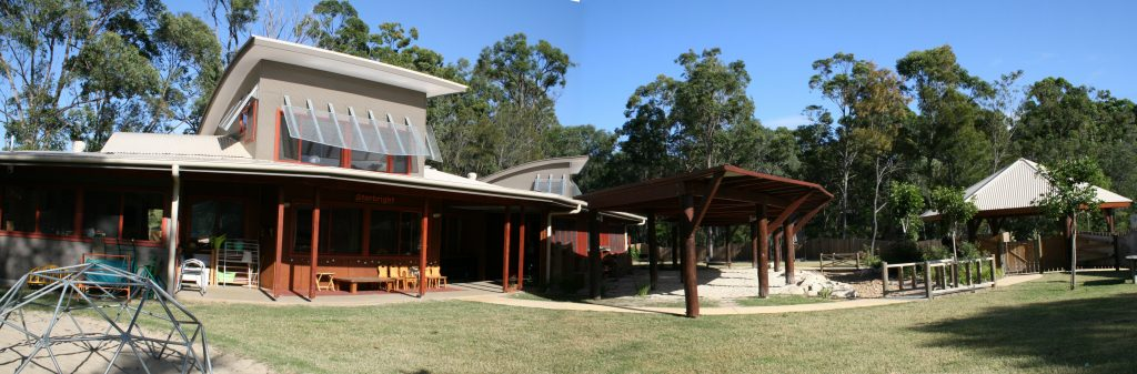 long elevation and verandahs