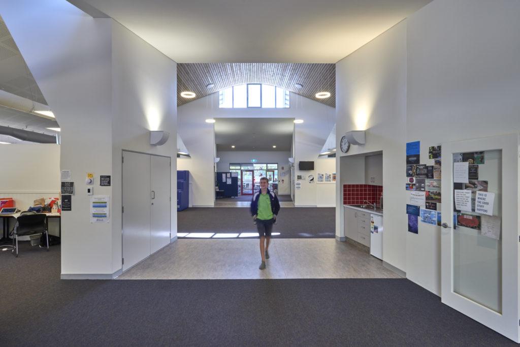 Internal wide corridors